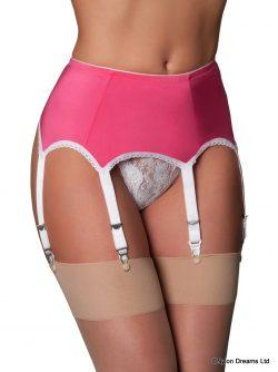 6 Strap Pink Suspender Belt